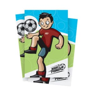 High Power Soccer Postcards