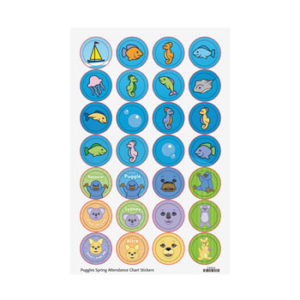 Awana Puggles Attendance Stickers - Spring