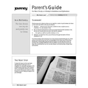 A Study in Galatians and Ephesians Parent's Guide - Free Download