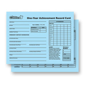Awana Cubbies One-Year Achievement Record Card
